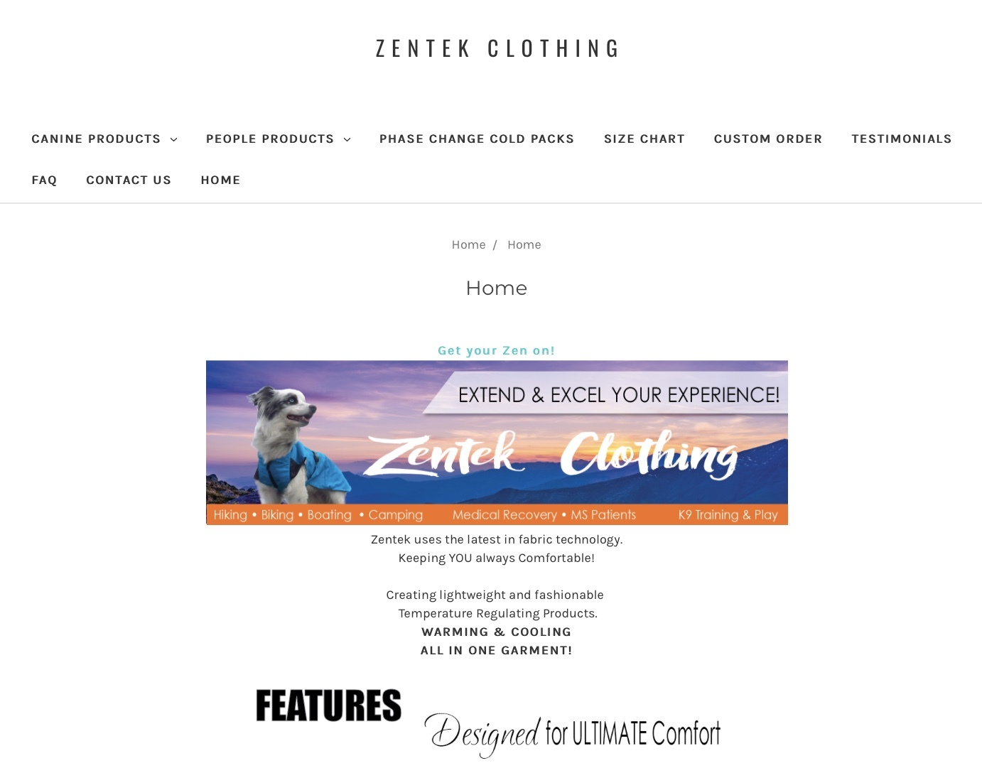 Zentek Clothing - E commerce